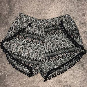 Tribal print shorts!